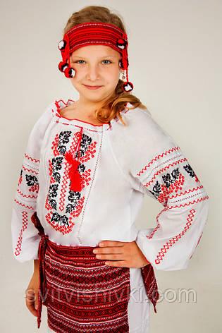 Вышитая сорочка для девочки с национальным орнаментом, фото 2