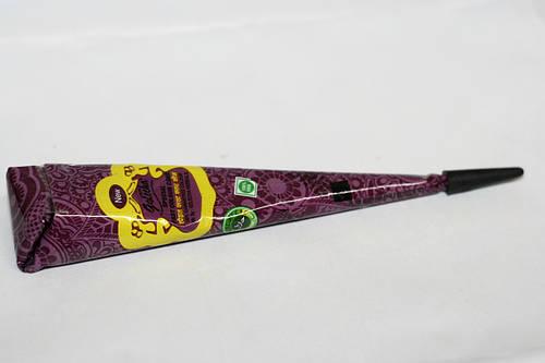 Хна для росписи тела конус фиолетовый