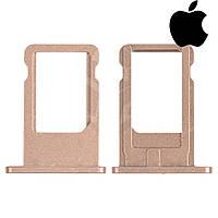 Держатель SIM-карты для iPhone 6, золотистый, оригинал