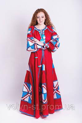 Платье вышитое фасон № 4 лён