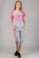 Женская комбинированная футболка с рукавом реглан
