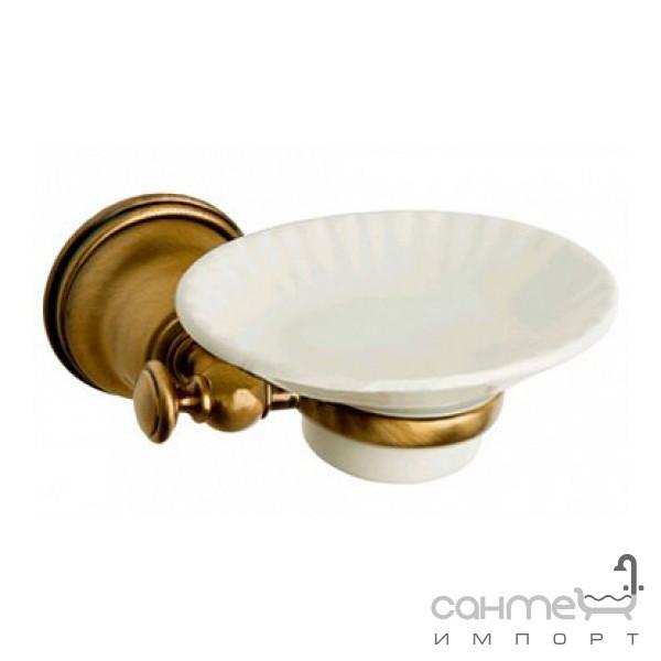Аксессуары для ванной комнаты All.pe Мыльница с настенным держателем All.pe Harmony VCOT HA106 бронза