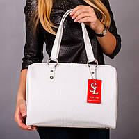 Белая женская сумочка под кожу питона №1342wr