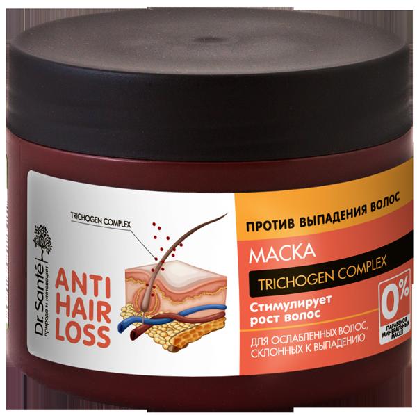 """Маска для ослабленных и склонных к выпаданию волос ТМ """"Dr.Sante Anti Hair Loss"""", 300 мл."""