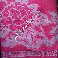 """Простынь махровая """"Роза (розовый)"""", фото 1"""