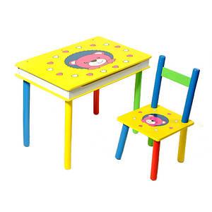 "Стол + стул 2803-705(W02-593) Столик+стульчик ""Мишки"""