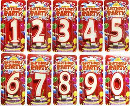 Свечи цифры в торт на День Рождения