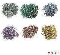 Круглые цветные стразы на планшете (24 пакетика) Lady Victory LDV MZH-01 /06-2