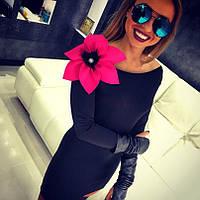 Платье Цветок pink