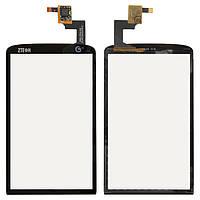 Touchscreen (сенсорный экран) для ZTE Skate/V960, тип 1, #9458/B-A152-03, оригинал (черное)