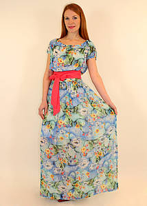 Летнее шифоновое платье 42-44-46 р ( разные цвета )