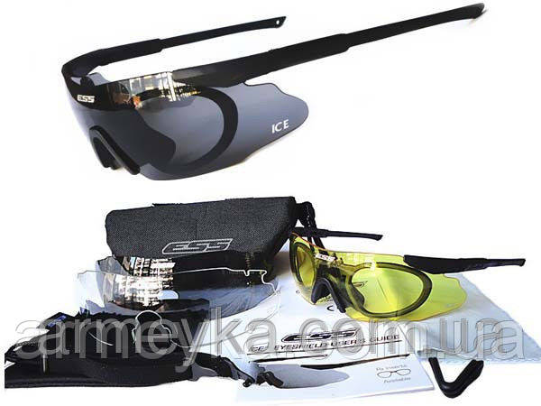 Баллистические противоосколочные очки ESS ICE, бу. Оригинал.