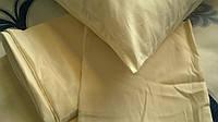 Постельное белье Lotus сатин кремовое евро размера