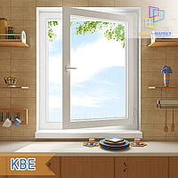 "Одностворчатое поворотно-откидное окно КВЕ 88, 800х1400  ""Окна Маркет"", фото 1"