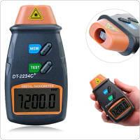 Цифровой лазерный бесконтактный тахометр DT-2234C+ (от 2,5 до 99999 об/мин) с запоминанием последнего замера