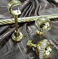 Кованый карниз Авея ø25мм цвет золото длина 3м
