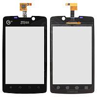 Touchscreen (сенсорный экран) для ZTE V880S, черный, оригинал