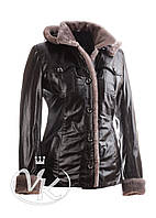 Утепленная кожаная куртка с мехом, фото 1