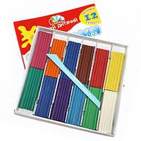 Пластилин Гамма Увлечение + стек 12 цветов 240 г 331011