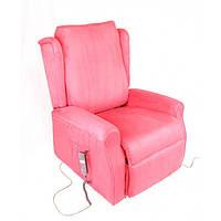 """Кресло подъемное с двумя моторами """"Clarabella2"""" (цвет: красный / синий / коричневый), пульт управления, переме"""