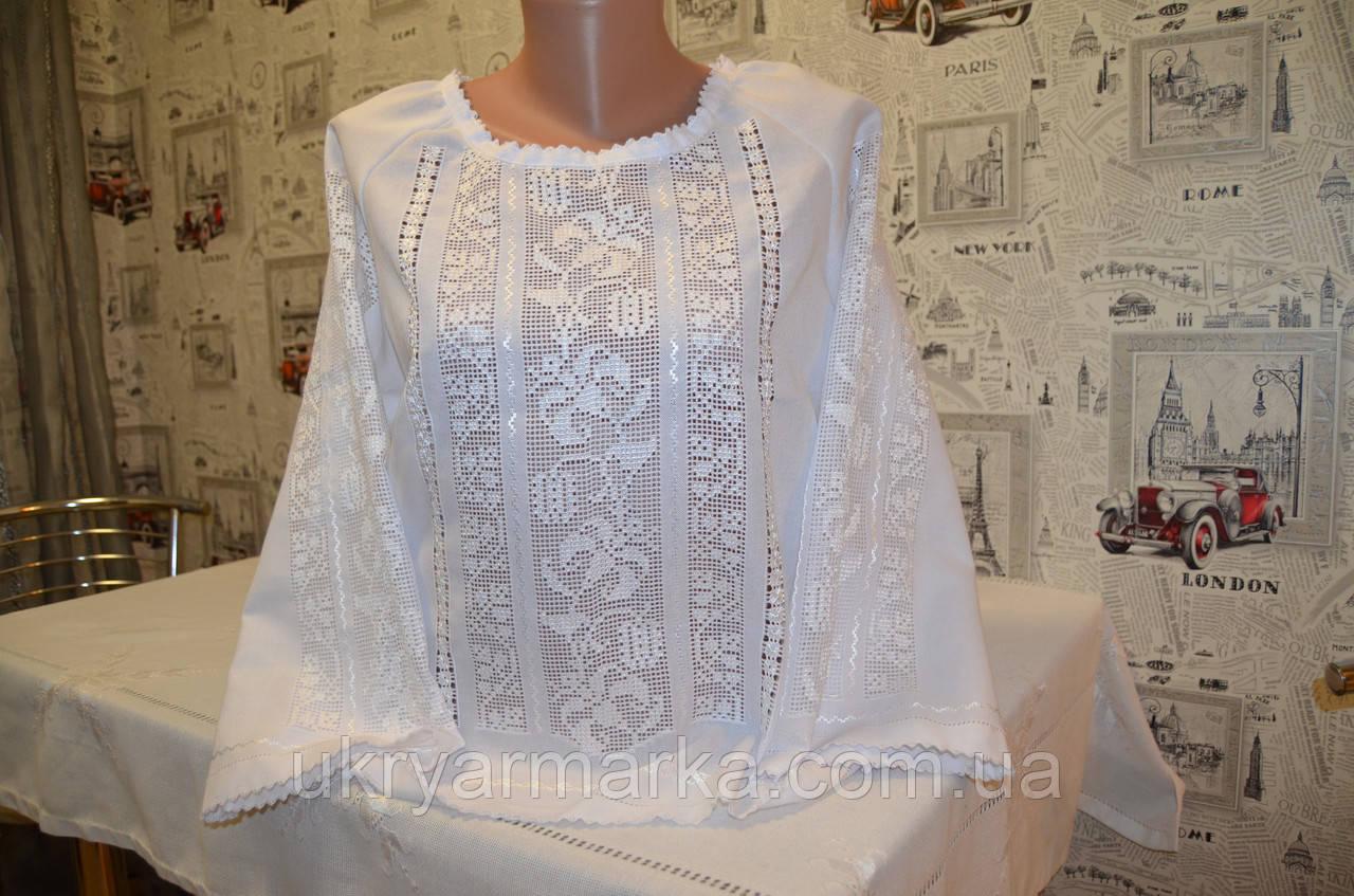 """Жіноча вишита блузка """"Біла лілія"""""""