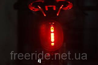 Велогабарит, мигалка RAPID-X 5LED диодов (зарядка от USB) 15 люмен, фото 3
