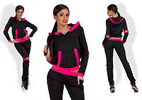 Женский спортивный костюм с контрастной отделкой