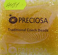 Бисер 10/0,  №01181, цвет - темно желтый прозрачный (уп.50 грамм)