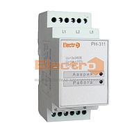 Реле контроля фаз и напряжения РН-311, 3Р, без регулировки, 380В, Electro