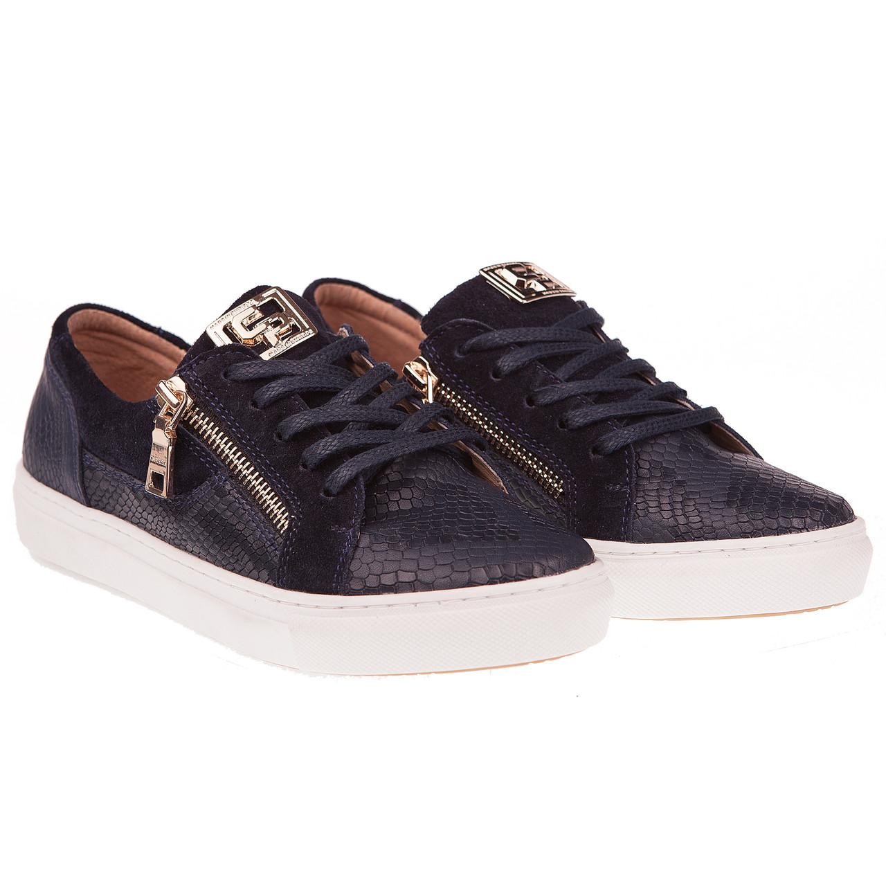 Спортивные туфли женские от Carlo Pachini (на шнурках, комфортные, удобные, синего цвета)