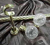 Кованый карниз Сепия ø25мм цвет золото длина 3м