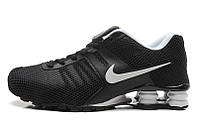 Мужские кроссовки Nike Shox black-white