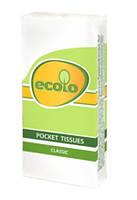 """Носовые платочки бумажные """"Ecolo"""" №9  белые"""