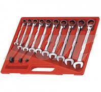 Набор рожково-накидных ключей с трещоткой 10 шт. (шт.) 3028 JTC