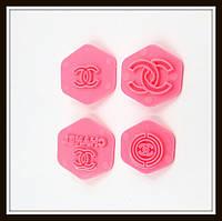 "Пэчворк (штампы декоративные), трафарет ""Chanel"" 4 шт."