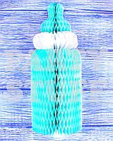Бумажный декор Детская бутылочка, голубая