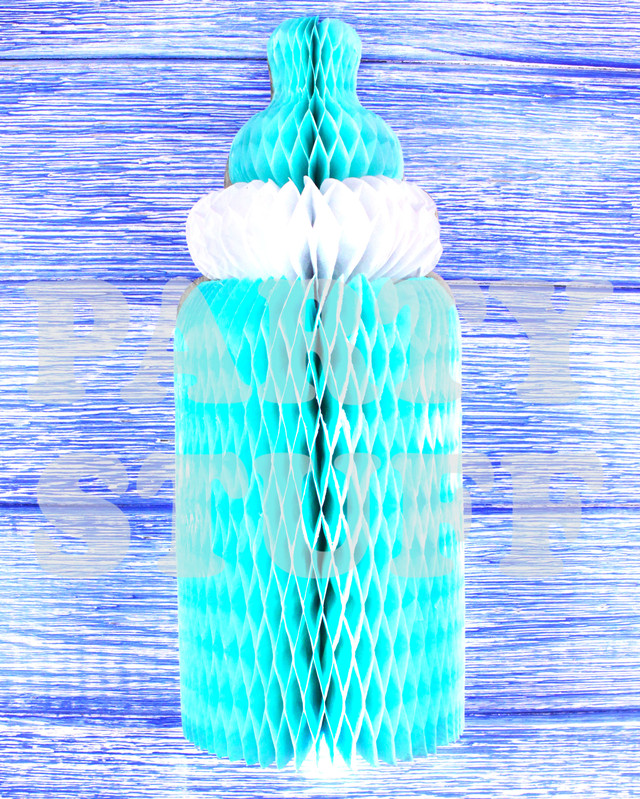 паперова дитяча пляшечка блакитна