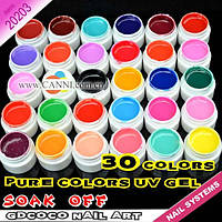 Гель - краски СОСО глянцевые набор 30 шт по 5 мл