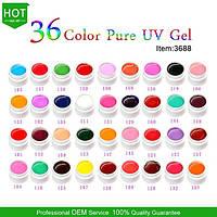 Гель - краски СОСО глянцевые набор 36 шт  по 5 мл