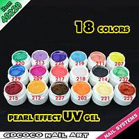 Гель - краски СОСО набор 18 шт перламутровые    по 5 мл