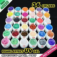 Гель - краски СОСО набор 36 шт перламутровые    по 5 мл