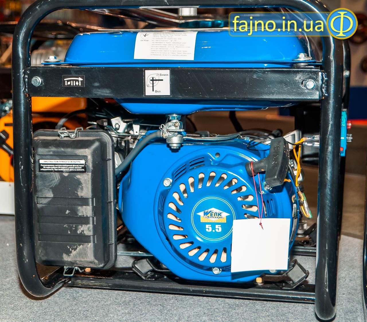 Бензиновый генератор Werk WPG3000 (2,5 кВт) стартер