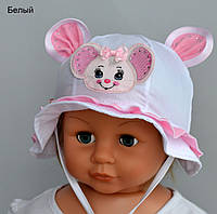 Панамка Мышка. р. 44-46. Белый, розовый, темно-розовый, мята, коралл