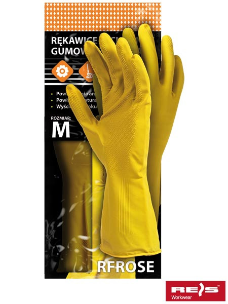 Перчатки защитные резиновые флокированные RFROSE Y - Спецгруп Львів в Львове