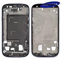 Рамка крепления дисплея для Samsung I9305 Galaxy S3, оригинал (голубая)