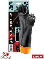 Защитные рукавицы, изготовленные из резины с продленной манжетой 60 cm RINDUSTRIAL-R BP