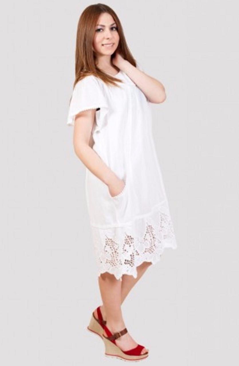 c0ad85488dc Легкое платье из летней ткани с ажурным низом  продажа