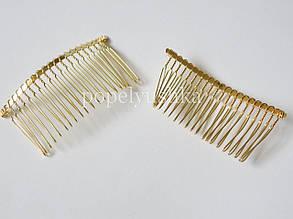 Гребінь металевий 7,5 см золотистий