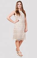 Женское платье в пастельном тоне