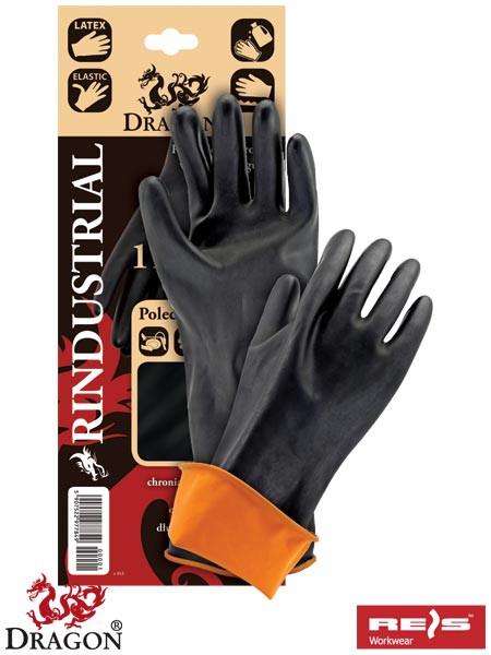 Захисні рукавиці, виготовлені з гуми з продовженої манжетою 35 cm RINDUSTRIAL BP
